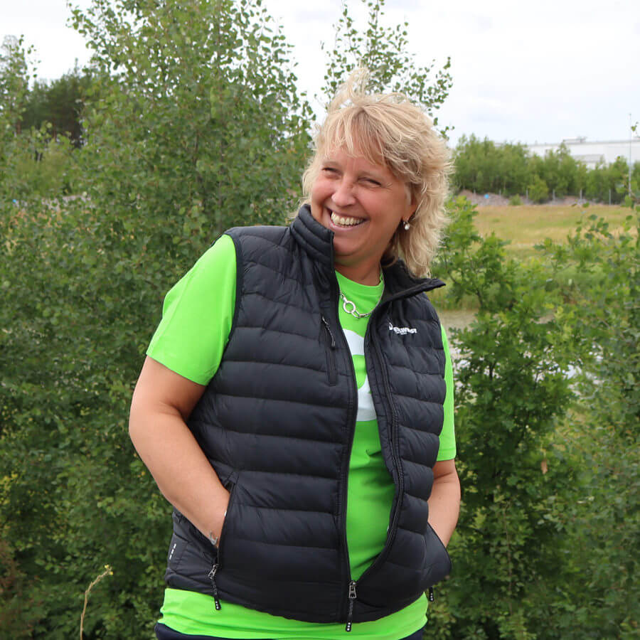 Bodywarmer woman action steelwrist